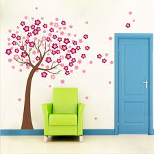 giant paper trees promotion shop for promotional giant paper trees for home giant pink cherry blossom flowers tree wall sticker decals room decor vinyl wall paper