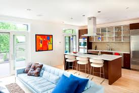 Small Kitchen Living Room Ideas Kitchen Kitchen Room Nice Modern Living Combo With Blue Small