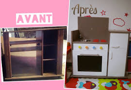 cuisine avec enfant tuto bricolage fabriquer une cuisine pour enfant