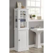 Narrow Cabinet For Bathroom Tall Narrow Bathroom Cabinet Wayfair