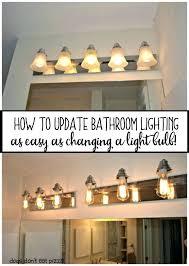 diy rustic bathroom light fixtures five ways to update a on budget