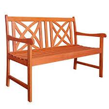 amazon com vifah v1493 outdoor wood garden bench 4 feet