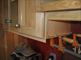 kitchen stacked crown molding how to add trim to cabinets adding
