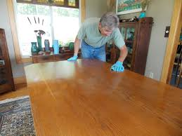 restoring our dining room table minwax blog