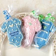 baby shower favors personalized baby bodysuit cookies