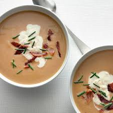 chestnut soup with bacon and chives recipe epicurious
