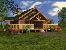 Cottage House Kits by Log Homes From 1 250 To 1 500 Sq Ft Custom Timber Log Homes