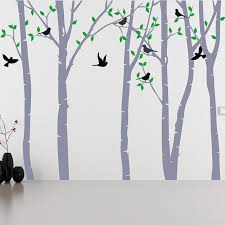 White Tree Wall Decal For Nursery Tree On The Wall Tree Stickers For Nursery Owl Wall Decals Tree Of