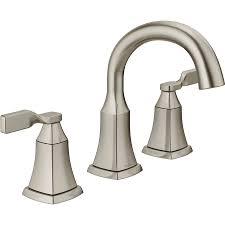 shop delta sawyer spotshield brushed nickel 2 handle widespread