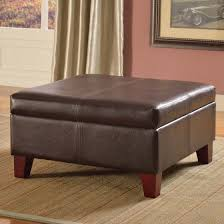Kinfine Storage Ottoman Kinfine Usa Luxury Large Faux Leather Storage Ottoman Walmart