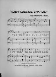 can u0027t lose me charlie 1893 u2013 sheet music songbook