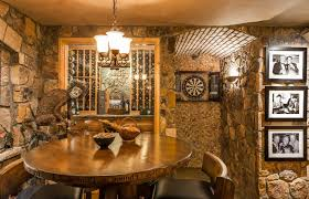 rustic dart board cabinet wine cellar rustic with round table wood