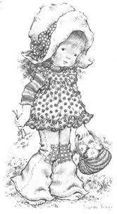 holly hobbie coloring pages 248 best coloriage sarah kay images on pinterest holly hobbie