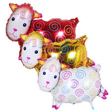 s day party decorations 10 pieces sheep foil balloons aluminum balloon birthday party