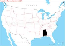 map usa alabama where is alabama state where is location of alabama in us map