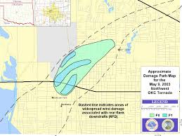 Oklahoma City Zip Code Map by The May 9 2003 Central Oklahoma Tornadoes