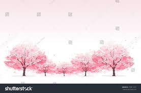 line cherry blossom tree background stock vector 173911319