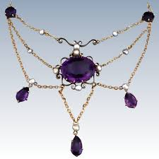 antique jewelry necklace images Antique victorian amethyst 14k gold festoon necklace antique jpg
