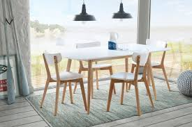 rectangle dining table with solid oak legs u0026 4x vegard