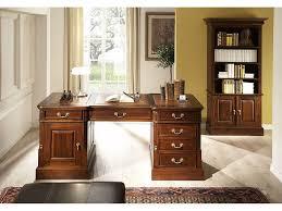 Schreibtisch Kolonialstil Schreibtisch 160x80 Englischer Stil Kolonial Leder Braun Büromöbel