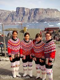 greenland we met some of the nicest people dressed up for a