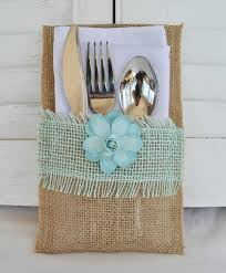 wedding silverware set of 8 rustic country burlap silverware flatware cutlery holders