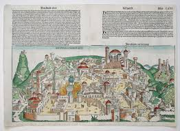 University Of Miami Map by Antique Map Schedel Jerusalem Hr Jpg