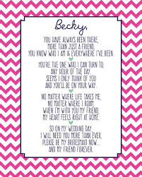 matron of honor poem will you be my bridesmaid gift of honor bridesmaid bridesmaid