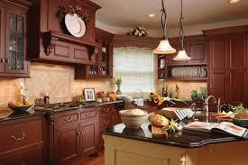 kitchen design cherry cabinets stunning traditional kitchen design vintage floral wallpaper small