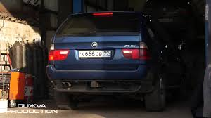 Bmw X5 61 Plate - bmw x5 e53 m62b44 exhaust tuning youtube