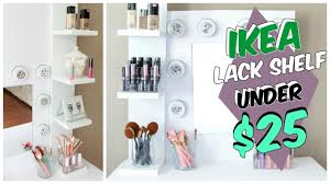 ikea shelf hack diy ikea lack shelf hack under 25 youtube