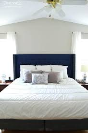 navy blue twin tufted headboard skyline nail button tufted