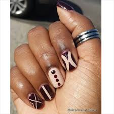 valentines day nail art mix and match nail that accent 25 brown