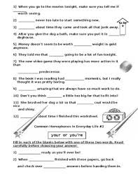 structure mixups plus homophone mistakes 6 worksheets
