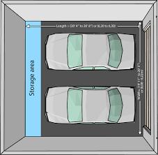 size of a three car garage average size of a 1 car garage