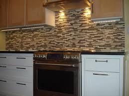 Glass Tile Backsplash With White Cabinets Mybungalowlife Kitchen