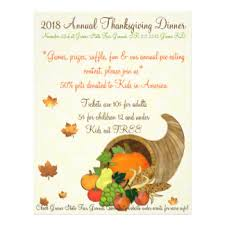 thanksgiving flyers programs zazzle