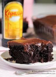 kahlua chocolate poke cake recipe chocolate cakes cakes and