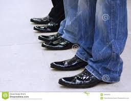 men u0027s feet in black leather shoes royalty free stock photo image