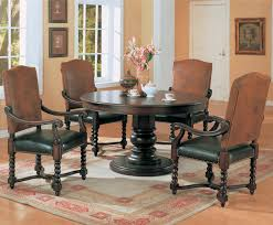 Old World Dining Room Sets by Cool Round Pedestal Dining Table Set On Havana Espresso Round