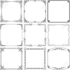 Decorative Frames White Royalty Free Cliparts Vectors And