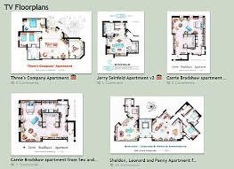 seinfeld apartment floor plan tv floorplan activity