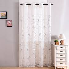 finel embroidered butterfly voile window curtain sheer curtain