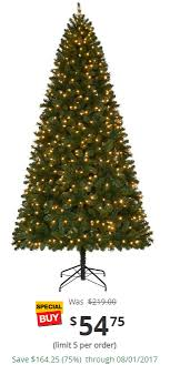 7 5 ft pre lit led wesley slim spruce set artificial