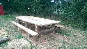 Rustic Log Benches - benches and tables say it with wood