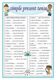 the 25 best simple present tense worksheets ideas on pinterest