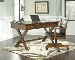 office table and chair set ashley burkesville medium brown x base home office desk and chair set
