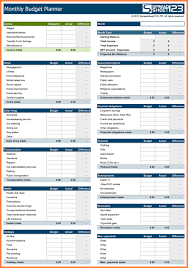 Excel Spreadsheet For Monthly Expenses 10 Monthly Expenses Spreadsheet Template Excel Excel