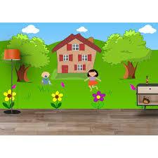 buy playground garden outdoor children playing waterproof wallpaper