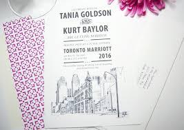 wedding invitations toronto skyline wedding invitations